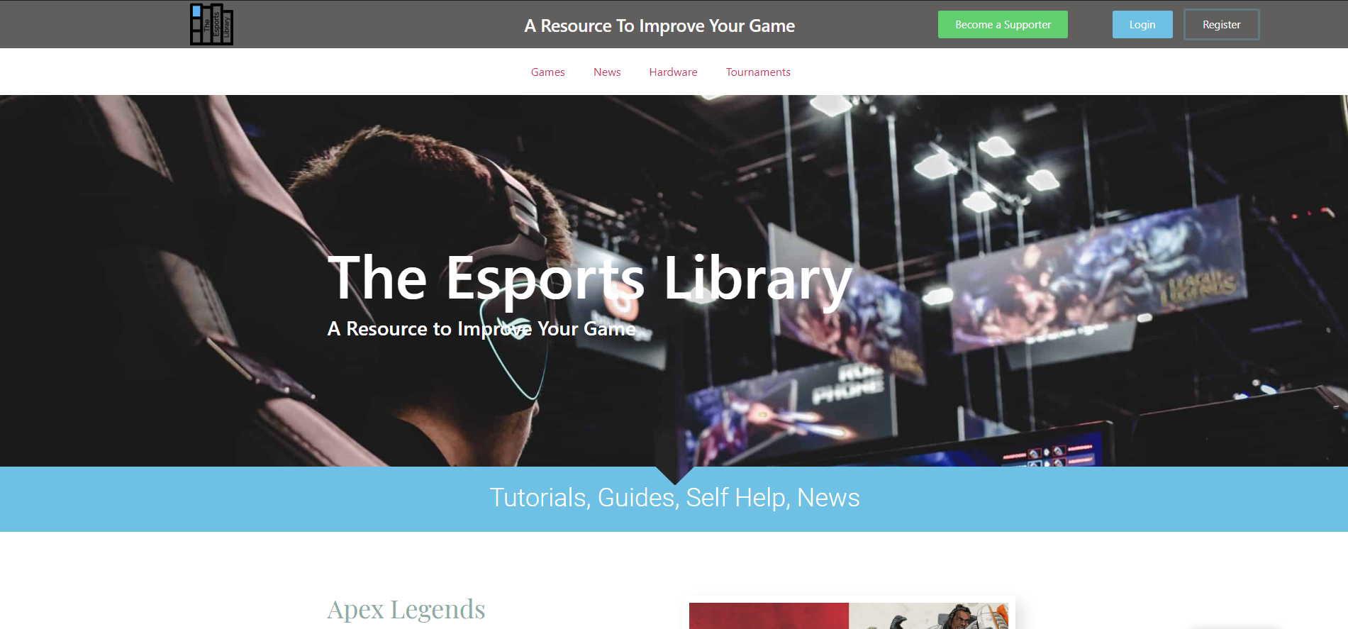 the esports library website