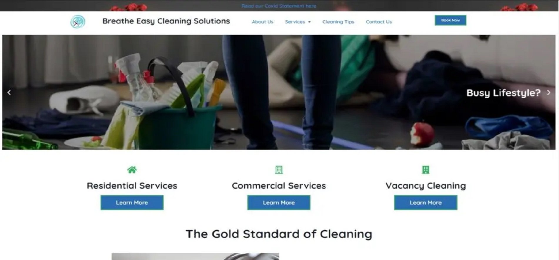 breathe easy cleaning solutions website